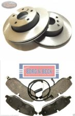 DISCOVERY 3/4 -TDV6 - BORG AND BECK - FRONT - DISCS , PAD and SENSOR set